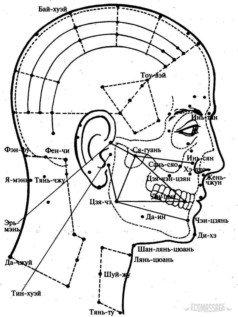 Массаж головы при головной боли: точки и техники 37-3